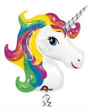 "Unicorn 33"" Helium Foil Balloon - Rainbow Magical Birthday Party Decorations"