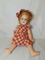 "Vintage Ideal Shirley Temple Composition Doll Flirty Eyes  18"" Tall"