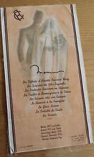 Ancien menu sur soie Berrier- Milliet le grand hotel