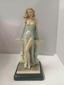 Vittorio Tessaro's 1980's Vintage Capodimonte - Lady In Evening Dress Figurine
