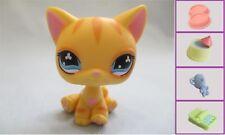 Littlest Pet Shop Cat Diary Orange Flower Eyes No Number Authentic Lps