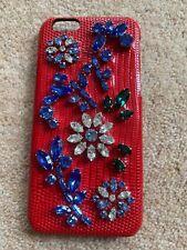 Dolce & Gabbana Crystal Gem red Embellished Leather Hard Case iPhone 6 6S D&G