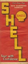 SHELL OIL COMPANY Road Map NEW HAMPSHIRE VERMONT QUEBEC Code M-2 1939-1 Radio