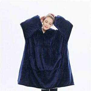 Warm Thick TV Hooded Sweater Blanket Unisex Giant Pocket Adult and Children