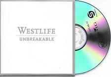 WESTLIFE - Unbreakable PROMO CD SINGLE 1TR EU CARDSLEEVE 2002 (BMG)