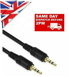 3.5mm MALE TO MALE BRAIDED AUDIO EXTENSION CABLE HEADPHONE 1m 2m & 3m gold plate