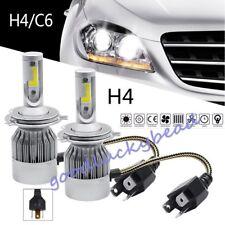 Car COB H4 C6 36W 3800LM LED Headlight Hi/Lo Super Light Bulbs 6000K
