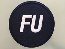 """FU FRANK UNDERWOOD TV HOUSE OF CARDS PRESIDENT - Embroidered Iron On Patch 3 """""""