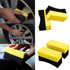 2x U-Shape Tire Wax Polishing Cleaning Sponge Rub ARC Tyre Brush Car Supplies