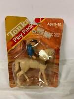 RARE Vintage Tonka Play Pack Horse And Rider Toy In Package On Card NRFB MOC