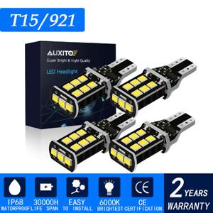 4x 6000K White 921 912 T15 Error Free LED Bulb Reverse Backup Tail Light