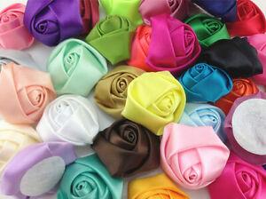 DIY MIX 5PCS Satin Ribbon Rose Flower 40.00mm Craft/Wedding Appliques