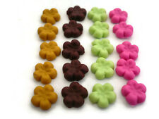20 Loose Colorful Flower COOKIE Dollhouse Miniature Food Bakery Deco