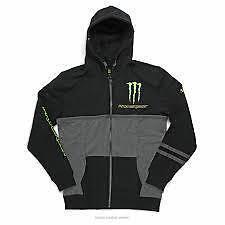 Pro Circuit Monster Energy Mens Casual Covert hoody Medium black/grey CL002M