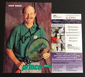 Stan Smith Signed Prince Promotional Postcard Grand Slam Wimbledon US Open JSA
