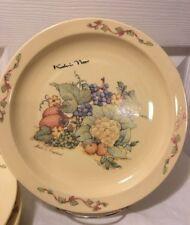 "RARE Koh-I-Noor Made in England Glass Plates (4) Veggie & Fruit Scenes 10"""