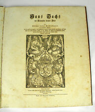 HANS SACHS IM GEWANDE SEINER ZEIT BEHAM BROSAMER SCHÄUFELEIN HOLZSCHNITT 1821#7S