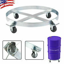 Drum Dolly 1000 Lbs 55 Gallon Swivel Casters Wheel Heavy Steel Frame Non Tipping