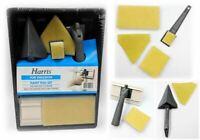 6 Pc Harris Paint Pad Set Corner Point Wall Painting Brush Tray Sponge Pads