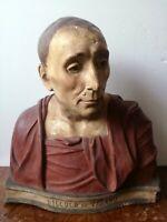 Niccolò da Uzzano busto terracotta policroma XIX secolo statua Donatello