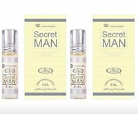 2   Secret Man 6ml by Al Rehab Best Seller Perfume/Attar / Ittar 2x6ml