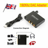 UK DAC Digital Optical Toslink Coaxial to Analog Audio Converter Adapter L/R RCA