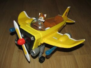 Rare Sonic The Hedgehog Tails Plane With Figure & Missile's