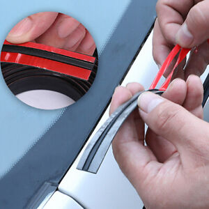 1X 2M Car Windshield Roof Seal Noise Insulation Rubber Strip Sticker Accessories