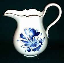Meissen große Milchkanne Krug blaue Blume Insekten 1924-34 Inhalt 0,7L