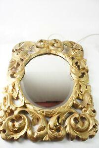 Spiegel Rokokospiegel Holzrahmen vergoldet um 1700 ca. 58x76cm Pro-1318
