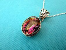 Stunning 925 Sterling Silver Pendant With Natural Rainbow Topaz  (nk1610)