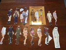 Vintage 1980 John Wayne Paper Dolls Book With Some Cut Out