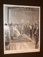 Roma nel 1903 Giubileo di Leone XIII Ambasciatore Portogallo + Alessandro Foli