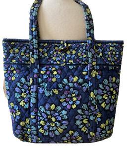 Vera Bradley Indigo Pop Blue Floral Large Tote Bag Toggle