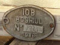 Lokschild, Fabrikschild,Typenschild IOB Boghiul Rumänien von 1986, Nummer 1396