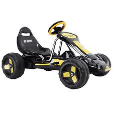 Kids Ride Go Kart 4 Wheel  on Car Stealth Pedal Powered Outdoor Racer Black