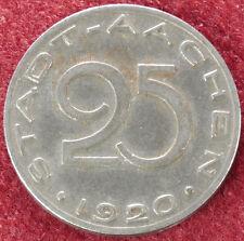 Germany Stadt Aachen 25 Pfennig 1920 Notgeld (C3108)