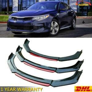 Gloss Black Front Bumper Lip Splitter Spoiler For KIA Optima K5 2011-2019 DHL