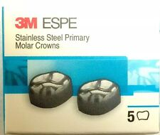 3M Stainless Steel Primary Pediatric Pedo Molar Crowns All Sizes & Quantity