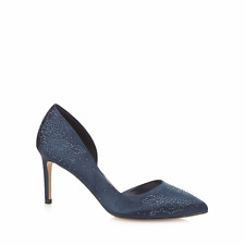 6026a71fc9d No.1 Jenny Packham Blue Diamante Penny Court Shoes UK 8 EU 41 Js36 17