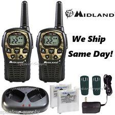 Midland Walkie Talkie Two Way Radio Camo 24 Mile Hunting Silent Mode LXT535VP3