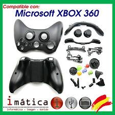 CARCASA COMPLETA PARA MANDO XBOX 360 NEGRO NEGRA X-BOX MICROSOFT INALAMBRICO