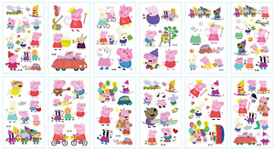 Peppa Pig Temporary Tattoo Sticker - Kids party and easy washable, fun 30 Design