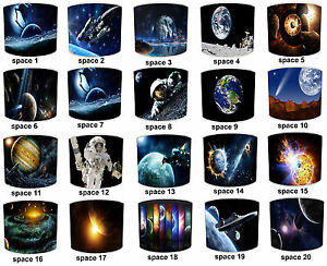 Childrens Planet Earth Space Lampshades Ceiling Light Table Lamp Cushion Covers