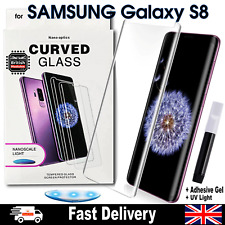 Samsung Galaxy S8 UV Glue Nano Optics 3D Curved Tempered Glass Screen Protector