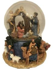 San Francisco Music Box Little Town Of Bethlehem Nativity Musical Snow Globe 7""