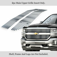 Fits 2016-2018 Chevy Silverado 1500 Upper Stainless Chrome Billet Grille Insert