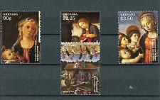 Grenada 2015 MNH Christmas Sandro Botticelli Paintings 4v Set Nativity Stamps