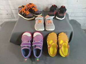 PRE-OWNED lot of 5 toddler girl's KEEN, CROCS & NIKE athletic shoes - SIZE 10
