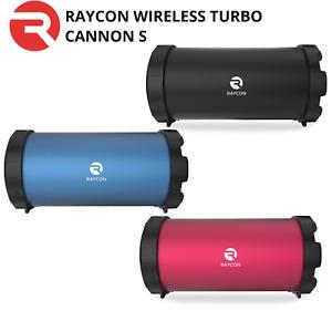 Raycon Wireless Medium Subwoofer Turbo Cannon S 4.2V Bluetooth Speaker w/ USB/FM